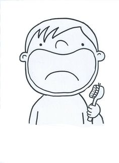 šablona – vykreslit a dolepit zuby ( fazole nebo bonbony tic – tac) Preschool Art, Preschool Activities, Art For Kids, Crafts For Kids, Health Activities, Kindergarten Fun, Dental Health, Health Education, Pre School