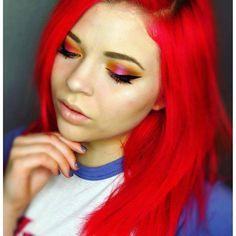 IG's @karasierramakeup uses Rock n' Roll Red for her gorgeous, 'The Little Mermaid' inspired locks!