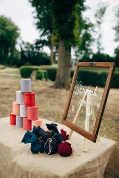 Jeux de chamboule tout pendant le vin d'honneur