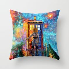 BeautifuL Blondie Lost in the strange city iPhone THROW PILLOW COVER #trowpillow #Pillow #PillowCase #PillowCover #CostumPillow #Cushion #CushionCase #PersonalizedPillow #painting #acrylic #watercolor #abstract #illustration #popart #tardisdoctorwho #doctorwho #davidtennant #publiccallbox #phonebox #happybirthday #riversongs #12thdoctor #10thdo