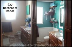 When she told us she spent $27 on this bathroom makeover, we weren't expecting this!