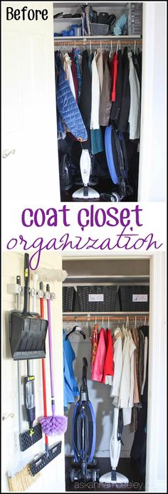 Make Use Of This Often Cluttered Space. Coat Closet Organization   Ask Anna