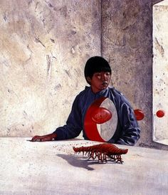 Wayne Douglas Barlowe. Bloodchild (illustration of Octavia Estelle Butler's novel)