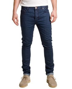 Han Kjobenhavn - Lean Fitted Jeans Red Listing Raw 12oz. selvage