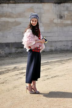 Natalia Alaverdian, streetstyle, Paris Fashion Week #PFW #FW14/15, image by StunningStreetstyle