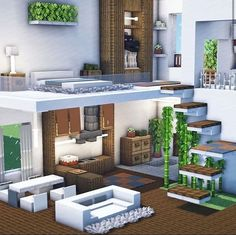 Minecraft House Tutorials, Minecraft Plans, Minecraft Room, Minecraft House Designs, Minecraft Tutorial, Minecraft Crafts, Minecraft Stuff, Minecraft Furniture, Minecraft Build House