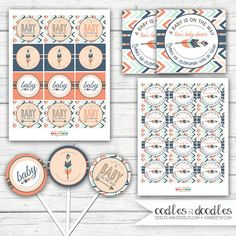 Tribal Baby Shower Gender Neutral Baby Shower Arrows and