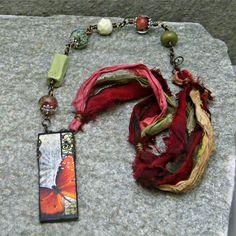 Butterfly Ephemera Pendant Ceramic Beads by HippieChickDesign