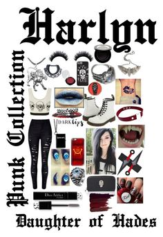 """Punk daughter of Handes"" by pmstefancik on Polyvore featuring WithChic, WearAll, Halftone Bodyworks, Casetify, Dr. Martens, KAOS, The Wildness Jewellery, Serge Lutens, Christian Dior and Shany"