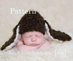 Crochet Hat Pattern - Crochet Bunny Hat Pattern - Crochet Pattern,Hat Pattern - Bunny Pattern - Baby Hat Pattern - Newborn Hat Pattern. $3.99, via Etsy.