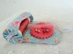 DIY Make a little on the go sewing kit, lipstick holder, etc.