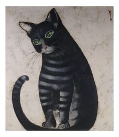 I just discovered this Milo, Portrait of a Blue and White Cat on LiveAuctioneers and wanted to share it with you: www.liveauctioneers.com/item/50012747