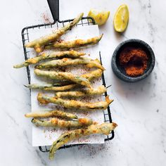 Tempura Green Beans with Old Bay and Lemon | Food & Wine