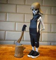 Matsuko By Whereschappell | The Toy Chronicle Female lumberjack skull toy