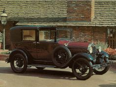 1929 Ford Model A Sedan | 1929 Ford Model A Town Car (Postcard) | Flickr - Photo Sharing!