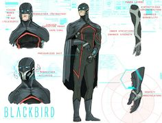 Blackbird for Void by JohnOsborne on DeviantArt Superhero Characters, Fantasy Characters, Diesel Punk, Armor Concept, Concept Art, Comic Character, Character Concept, Comic Books Art, Comic Art