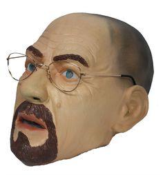Full Head Walter White TV Show Latex Heisenberg with Glasses Mask - Dragons  Den Fancy Dress 5c0c27370a2c