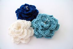 Two-Hour Crocodile Stitch Flower - Your new favorite crochet flower pattern!