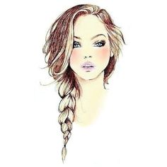 Beautiful #drawing of a #hair #braid