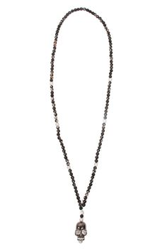Hipchik Johhna Pearl & Labradorite Chain Necklace eseCT