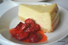Ruokailmiö: Juustokakku uunissa Donna Hayn tapaan Cheesecake, Ricotta, Desserts, Food, Tailgate Desserts, Deserts, Cheese Cakes, Eten, Postres