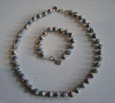 FIMO Necklace & Bracelet Set Bracelet Set, Beaded Necklace, Beads, Jewelry, Fashion, Fimo, Beaded Collar, Beading, Moda