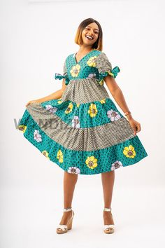 African Dresses For Women, African Print Dresses, African Attire, African Wear, African Fashion Dresses, African Prints, Ankara Fashion, African Style, African Fabric