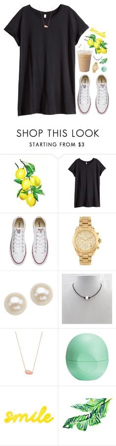 """I hope tomorrow is a good day"" by aweaver-2 on Polyvore featuring H&M, Converse, Michael Kors, Honora, Kendra Scott, Eos and Lilly Pulitzer"