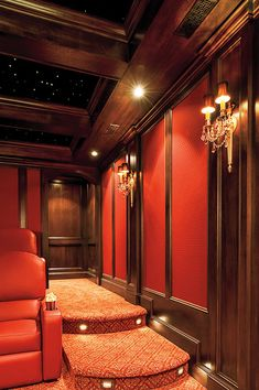 Kleiner großer Bildschirm - Theater room in the basement - Theater Home Theater Room Design, Movie Theater Rooms, Home Cinema Room, Sound Room, Music Studio Room, Classic House, Architecture, Home Remodeling, Decoration