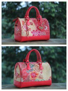 hokontul batik red carrie bag