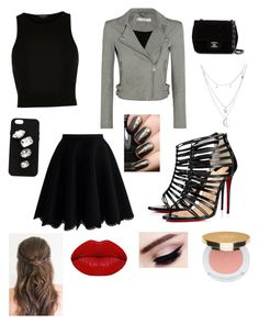 """""""Girls night out"""" by cattlelife ❤ liked on Polyvore featuring IRO, River Island, Chicwish, Christian Louboutin, Charlotte Russe, Chanel, STELLA McCARTNEY, Winky Lux and Isaac Mizrahi"""
