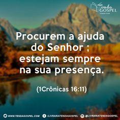 Livraria Tenda Gospel, Salmo do Dia! #bomdia #bíblia #versículo #salmo #deus #deusnocontrole #deusnocomando #amor #fé #jesus #salvação #livrariatendagospel #tendagospel