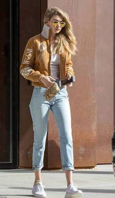 Gigi Hadid earth causal outfit