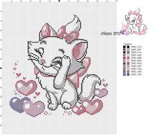 Stitch Mania: Disney: The AristoCats Cross Stitch Beginner, Just Cross Stitch, Cross Stitch Charts, Cross Stitch Patterns, Baby Embroidery, Hand Embroidery Patterns, Embroidery Stitches, Cat Cross Stitches, Cross Stitching