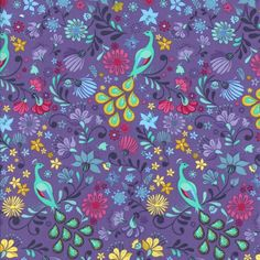 """1 3//4 yd 100/% Cotton Fabric MODA /""""Early Bird/"""" Kate Spain White w//Coral Florals"""