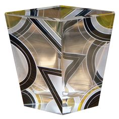 Modernist two-tone Czech enamel Glass Vase Karl Palda