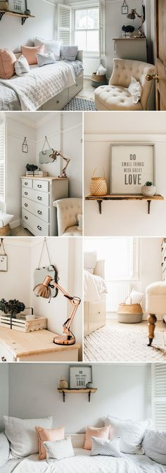 Room Decor: a light and airy guest bedroom Modern Country Bedrooms, Country Modern Home, Modern Bedroom, Bedroom Small, Airy Bedroom, Master Bedroom, Small Guest Bedrooms, Country Cottage Bedroom, Country Style Living Room