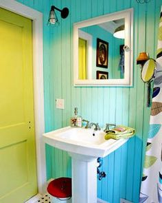 Image result for bright colored beach houses
