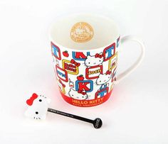 Hello Kitty 40th Anniversary Mug & Stirrer: 1974