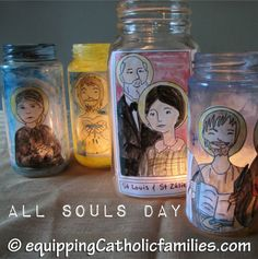 All Souls Day: links, crafts, prayers, family traditions Catholic Crafts, Catholic Kids, Catholic Saints, Catholic School, Saints For Kids, All Saints Day, Bible School Crafts, Sunday School Crafts, Catholic Catechism