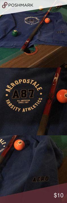 Men's Sweatshirt Blue sweatshirt with white and black lettering Aeropostale Shirts Sweatshirts & Hoodies