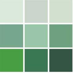 Elke etage krijgt een andere tint groen. Van donker groen (begane grond) naar licht groen (bovenste verdieping)