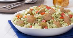 Healthy Pesto Potato Salad with Cauliflower and Kale | Hungry Girl
