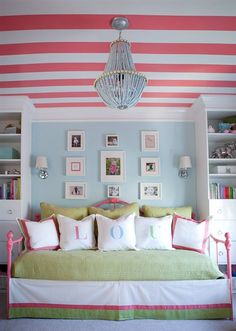 Ceiling and wall color. Crown molding.