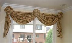 Scarf Valance Window Treatments with Rosettes - Bing images