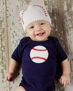Baseball Bodysuit-jannuzzi, onesy, baseball, sports, trendy, baby boutqiue, boy, baby shower gift