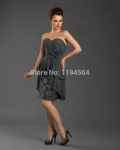 2014 Free Shipping Dark Grey Chiffon Mother of the Bride Pant Suits with Lace Sweetheart  Vestidos Femininos BM285