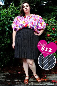 CLEARANCE  Plus Size  Vintage Black & White Polka by TheCurvyElle, $12.00