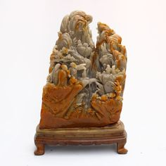 Chinese Shoushan Stone Statue - Sages Meeting
