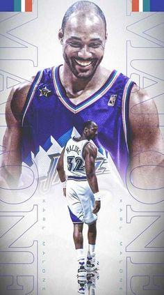 Jazz Basketball, Basketball Pictures, Basketball Legends, Basketball Players, Basketball Videos, Soccer, Lebron James Wallpapers, Sports Wallpapers, Karl Malone